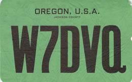 Amateur Radio QSL - W7DVQ Southern Oregon College -USA- 1969 - 2 Scans - Radio Amateur