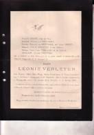 BEVERE-LEZ-AUDENARDE POPERINGE Léonie VERLEYEN épouse Juge De Paix DHONT 1839-1899 Doodsbrief Distribution Pains - Obituary Notices