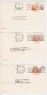 3 US Postal Cards - John Hancock Patriot 10 Cent - Advertisement Atherton's Furniture Portsmouth NH - Postal Services