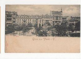 Germany, Gruss Aus Plauen, Albertplatz  Postcard, A572 - Unclassified