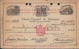 """E885 CUBA CENTRO ESPAÑOL DE MATANZAS INVOICE """"ELECTIONS"""" 1924 SPAIN ESPAÑA - Stamps"""