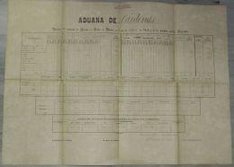 E927 SPAIN ESPAÑA CUBA REPORT OF SHIP IN MATANZAS 80x 60 Cm 1860 - Stamps
