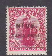 Niue SG 9 1902 One Penny Red Mint - Niue