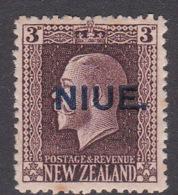 Niue SG 27 1919 3 Pence Chocolate Mint - Niue