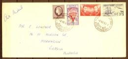 TERRITORIOS DE ROSS , AÑO 1963 , SOBRE CIRCULADO A MORNINGTON , BASE SCOTT - Dependencia Ross (Nueva Zelanda)