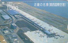 Carte Prépayée Japon - AVION JAL ANA Aéroport - KANSAI AIRPORT PLANE JAPAN Prepaid Card - FLUGZEUG - Aviation Fumi 2082 - Avions