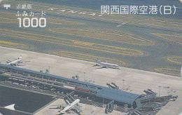Carte Prépayée Japon - AVION Aéroport - KANSAI AIRPORT PLANE JAPAN Prepaid Card - FLUGZEUG - Aviation Fumi 2083 - Avions