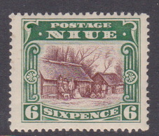 Niue SG 42 1920 Pictorials 6d Red Brown And Green Mint Hinged - Niue