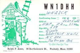 Amateur Radio QSL - WN1DHH - Peabody, MA -USA- 1965 - Radio Amateur