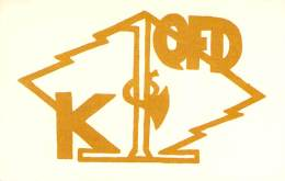 Amateur Radio QSL - K1QFD - North Kingstown, RI -USA- 1966 - 2 Scans - Radio Amateur