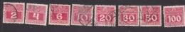 Austria, Scott  #J35-J38, J40, J42-J44, Used, Postage Due, Issued 1910 - Taxe
