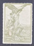 ITALY   VIGNETTE  AEROPHILATELIC  FLORENCE  AIR  SHOW  1911   * - 1900-44 Vittorio Emanuele III