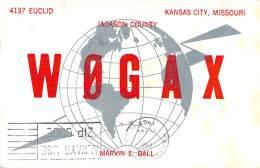 Amateur Radio QSL - W0GAX - Kansas City, MO -USA- 1967 - 2 Scans - Radio Amateur