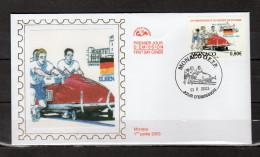 """Enveloppe 1er Jour En Soie De 2003 """" 10ème CHAMPIONNAT DU MONDE DE POUSSEE 2003  """" N° YT 2385. Parf. état. FDC - Briefmarken"""