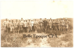 Tunisie - Enfida / ENFIDAVILLE - École à Feu 1913 / OFFICIERS / Critique ... +++ J. Deconcloit, Tunis +++ X5 CARTE-PHOTO - Tunisie