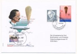 SUISSE -  BALLONS / ZEPPELINS - 5 Enveloppes Commémoratives Avec Vignettes, 2004, 2005, 2007 (Picard) - Airmail