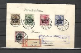 Lettre Recommandé Départ LODZ Vers Leipzig  Arrivée 23 / 03 / 1916 - 1923-1991 URSS