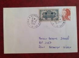 Ambulant LYON à STRASBOURG 2e D - Marcophilie (Lettres)