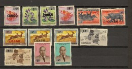 Congo  Ocb Nr:  532 - 544 ** MNH   (zie Scan) 536 USED ! - Republiek Congo (1960-64)