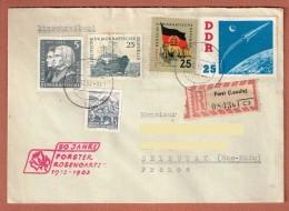 R.Forst Lausitz 31.12.1962  Pour Sélestat Timbres DDR N° 442 - 534 - 529A - 642  Y.T. - 50 Jahre Forster Rosengarten - [6] République Démocratique