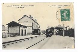 SEMBADEL  (cpa 43)  Croisement De Trains à La Gare (effet De Neige)   -  L 1 - France