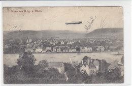Gruss Aus Kripp A. Rhein - Zeppelin - 1911 2 Wahl - Remagen