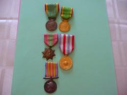 Lot De 5 Médailles Françaises - France