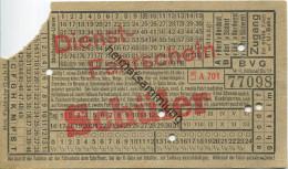 BVG Berlin Köthener Str. 17 - Dienst-Fahrschein - Schüler - 1938 - Gültig Für Einen Schüler Im Alter Von 6-14 Jahren - U-Bahn