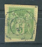 """VEND BEAU TIMBRE DE FRANCE N°106 , CACHET HEXAGONAL """"BOURGES"""" !!!! - 1876-1898 Sage (Type II)"""