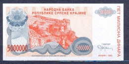 Croatia  - 1993 -   5 Mil  Dinar ....UNC ..PR24 - Croatie