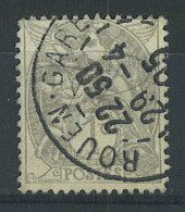 """VEND BEAU TIMBRE DE FRANCE N°107 , CACHET """"ROUEN GARE"""" !!!! - 1900-29 Blanc"""