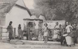 PONDICHERY - FONTAINE DE LA VILLE - BELLE ANIMATION - Cartes Postales