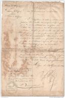 Certificat De Travail Armée D'algrérie 1851,  Nicolas EHRMANN En L'état - Historical Documents