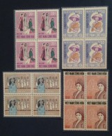 Blocks 04 Of South Vietnam Viet Nam MNH Perf Stamps 1969 : Sc#343-6 / Vietnamese Women / Costumes - Viêt-Nam