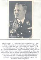 VIKTOR LUTZE - BORN IN BEVERGEM WESTPHALIA (1890-1943) Ii World War - Nationalsozialistischer Politiker Und SA-FUHRER AU - Autografi