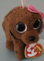 Petit CHIEN TY Aux Grands Yeux - The Beanie Boos Collection -  Maddie Née Le 28 Mars - Cuddly Toys