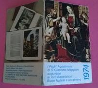 CALENDARIETTO 1974 PADRI AGOSTINIANI DI S.GIACOMO MAGGIORE BOLOGNA - Calendari