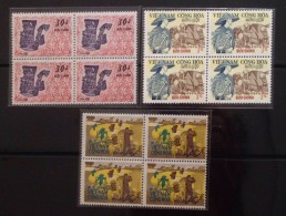 Blocks 04 Of South Vietnam Viet Nam MNH Perf Stamps 1971 : Farmer Day - Scott#398-400 - Vietnam