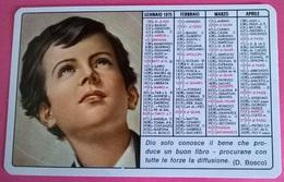 CALENDARIETTO 1975 PLASTIFICATO - Calendari