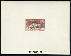 COTE DES SOMALIS - N° 287 À 289 + PA 26 , 4 EPREUVES DE LUXE DE LA FAUNE - SUP - Brieven En Documenten