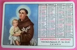 CALENDARIETTO 1965 ORFANOTROFIO S.ANTONIO CATANIA - Calendari