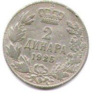 Serbia Croazia E Slovenia Regno 2 Dinara 1925 - Serbie