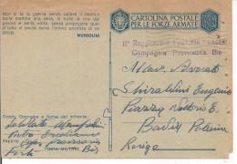 POSTA MILITARE, FRANCHIGIA,II´REGGIMENTO FANTERIA CASALE,COMPAGNIA PROVVISORIA BIS,FORLI-1943-PER BADIA POLESINE,ROVIGO - 1939-45