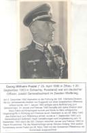 GEORG WILHELM POSTEL - BORN IN ZITTAU 1896-1953 - GENERAL GERMAN WEHRMACHT DURING WORLD WAR II AUTOGRAPHE SUR CARTE POST - Autographs