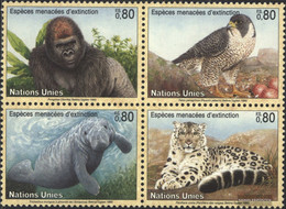 UN - Geneva 227-230 Block Of Four (complete Issue) Unmounted Mint / Never Hinged 1993 Affected Animals - Geneva - United Nations Office