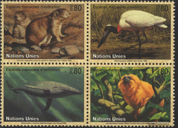 UN - Geneva 245-248 Block Of Four (complete Issue) Unmounted Mint / Never Hinged 1994 Affected Animals - Geneva - United Nations Office