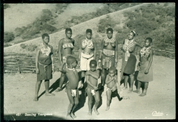 South Africa Postcard 1957 Dancing Youngsters Zeepost Seapost - South Africa