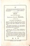 BEVERLOO -  1782-1864 - COENEN Catharina-Elisabeth - Images Religieuses