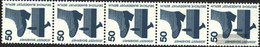 Berlin (West) Mi.-number.: 408A Ra Five Strips Unmounted Mint / Never Hinged 1973 Accident Prevention - Unused Stamps