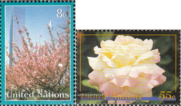 UN - New York 730-731 (complete Issue) Unmounted Mint / Never Hinged 1997 Clear Brands - New York – UN Headquarters